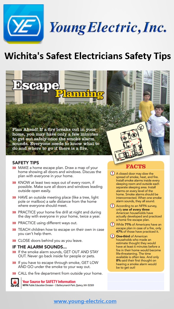 fire escape planning tips in the event of a residential fire