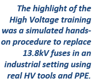 NFPA training high voltage procedure